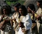 Los líderes, o mamos, de las cuatro etnias estuvieron a cargo de la ceremonia, que se tardó aproximadamente una hora y media