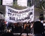 Los trabajadores del Colón disconformes con las autoridades del teatro.