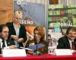 Coscia y  Giorgi, durante el anuncio.