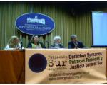 Estela de Carlotto junto a Emilio García Méndez y las diputadas María Luisa Storani y Claudia Rucci.