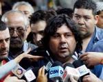 Néstor Segovia, la cara visible del reclamo, delegado de Taller en la línea C, militante del MST.