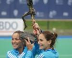 Aymar y García, tras ganar el Champions Trophy, este año