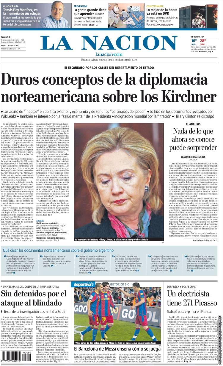 Las distintas repercusiones en los diarios argentinos.