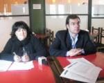 La Directora de Acción Cultural Museóloga Mónica Arturo y Coordinador de Eventos Eduardo Oro, Funcionarios del Ministerio de Turismo y Cultura de la Provincia de San Juan.
