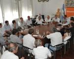 Reunión con intendentes de zonas rurales.