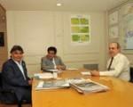 En la sede del ministerio de Infraestructura bonaerense, su titular, Alejandro Arlía, mantuvo una reunión con el  intendente de Quilmes, Francisco Gutiérrez.
