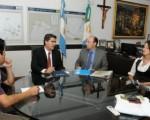 El gobernador Jorge Capitanich se reunió ayer con el representante de Unicef Argentina, Andrés Franco.