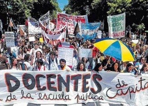 Protestas docentes.