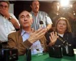 El expresidente De La Rúa junto a Elisa Carrió.