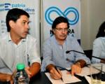 Junto a Sileoni estuvo el secretario de Transporte, Alejandro Ramos.