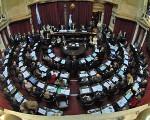 El Senado se manifestó contra la violencia de género.