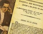 """Primer número de la """"Gazeta de Buenos Ayres"""", primer periódico de la etapa independentista en el Río de la Plata."""