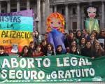 Concentración por el aborto, legal y gratuito.