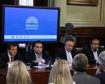 El Ministro de Trabajo, Jorge Triaca, durante su exposición ante la Comision de Trabajo, en el salón Illia del Senado de la Nacion. Congreso Nacional 30 de noviembre de 2016. (FOTO: SOFIA ARECO/ COMUNICACION SENADO)